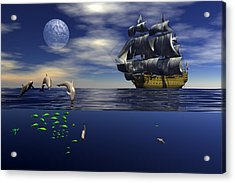 Acrylic Print featuring the digital art Just Passing by Claude McCoy