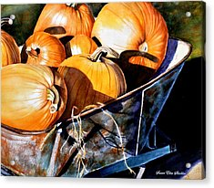 Just Picked Acrylic Print by Susan Elise Shiebler