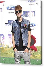 Justin Bieber At Arrivals For 2011 Bet Acrylic Print by Everett