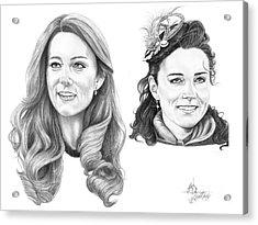 Kate Middleton Acrylic Print by Murphy Elliott
