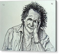 Keef Acrylic Print by Pete Maier