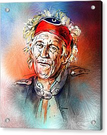 Keith Richards Acrylic Print by Miki De Goodaboom