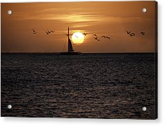 Key West Sunset Acrylic Print by Paul Plaine