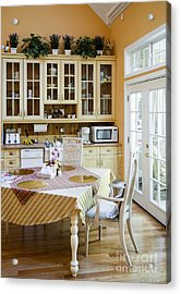 Kitchen Cabinets And Table Acrylic Print by Andersen Ross
