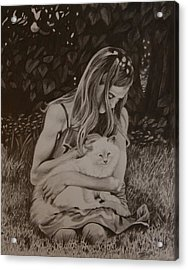 Kitty Love Acrylic Print