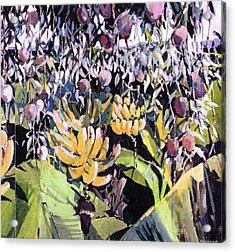 Acrylic Print featuring the painting Kona Garden by Andrew Drozdowicz