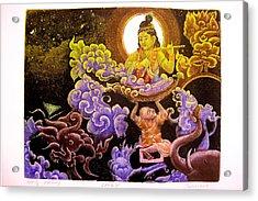 Krishna Leela Acrylic Print by Indra Khatri