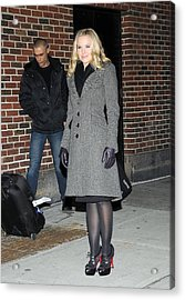 Kristen Bell At Talk Show Appearance Acrylic Print by Everett