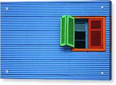 La Boca Acrylic Print by Silkegb