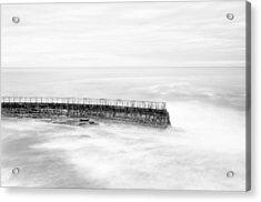 La Jolla Seawall Acrylic Print by Tanya Harrison