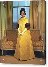 Lady Bird Johnsons Inaugural Gown. The Acrylic Print by Everett
