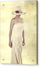 Lady In White Dress Acrylic Print by Joana Kruse