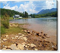 Acrylic Print featuring the photograph Lake Chatuge View by Lou Ann Bagnall