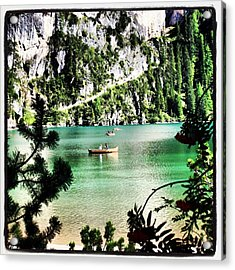 Lake Of Braies - South Tyrol Acrylic Print