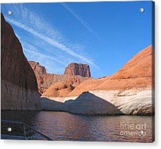 Lake Powell Shoreline Acrylic Print by Merton Allen