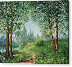 Acrylic Print featuring the painting Lake Steilacoom by Charles Munn