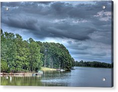 Lakeside Acrylic Print by Barry Jones