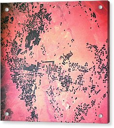 Landscape Of Earth Viewed From Space Acrylic Print by Stockbyte