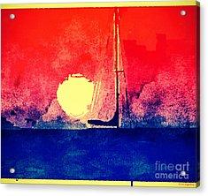 Last Boat Leaving Acrylic Print by Christine Segalas