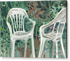 Lawn Chairs Acrylic Print by Donald Maier