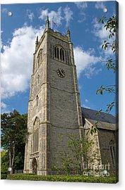 Laxfield Church Tower Acrylic Print by Ann Horn