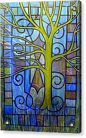 Leaves Of Glass Acrylic Print by Monica Furlow