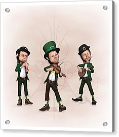 Leprechaun  Musicians Acrylic Print by John Junek