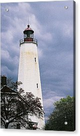 Lighthouse At Sandy Hook Acrylic Print by William Walker
