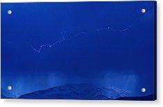 Lightning Acrylic Print by Peter Bolton