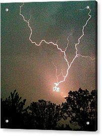 Lightning Strike Acrylic Print by Kristina Chapman