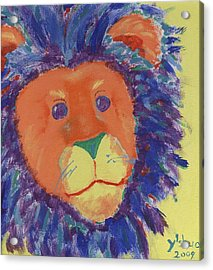 Lion Acrylic Print by Yshua The Painter