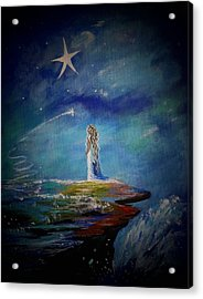 Little Wishes By The Sea Acrylic Print by Leslie Allen