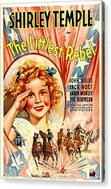 Littlest Rebel, Shirley Temple, 1935 Acrylic Print by Everett
