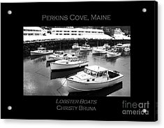 Lobster Boats Acrylic Print by Christy Bruna