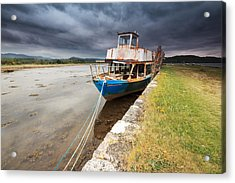 Loch Etive Jetty Old Boat Acrylic Print