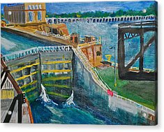Lock And Dam 19 Acrylic Print
