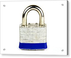 Lock Acrylic Print by Blink Images