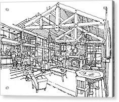 Lodge Acrylic Print by Andrew Drozdowicz