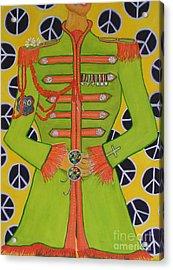 Lonely Hearts Club Member John Acrylic Print by Barbara Nolan