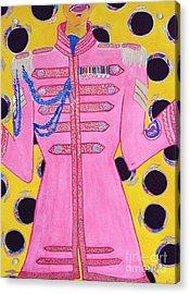 Lonely Hearts Club Member Ringo Acrylic Print by Barbara Nolan