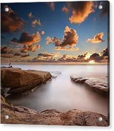 Long Exposure Sunset At A San Diego Acrylic Print