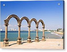Los Arcos Amphitheater In Puerto Vallarta Acrylic Print by Elena Elisseeva