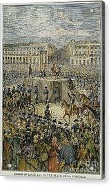 Louis Xvi: Execution, 1793 Acrylic Print by Granger