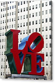 Love Park - Center City - Philadelphia Acrylic Print by Brendan Reals