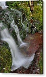 Lower Buttermilk Falls Acrylic Print by Stephen  Vecchiotti