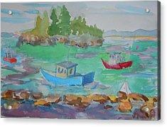Lubec Lobster Boats Acrylic Print by Francine Frank