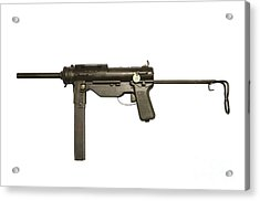 M3a1 Submachine Gun, 45 Caliber Acrylic Print by Andrew Chittock