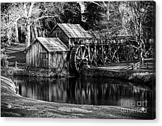 Acrylic Print featuring the photograph Mabry Mill by Carrie Cranwill