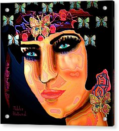 Madame Butterfly Acrylic Print by Natalie Holland