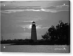 Acrylic Print featuring the photograph Madisonville Lighthouse Sunset by Luana K Perez